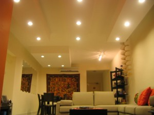 Ceiling Color For A Matching Interior Design  Modern-plaster-ceiling-with-lighting
